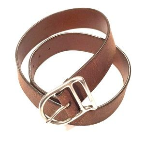 POLO RALPH LAUREN brown distressed leather belt